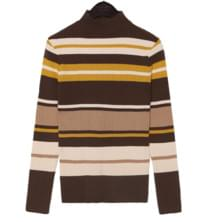 WONDER STRIPE HALF NECK KNIT