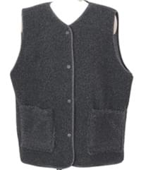 Made_outer-048_lambs snap vest (size : free)