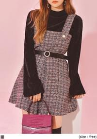 MUCH PEARL TWEED OVERALL MINI OPS