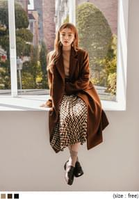 TAKE WOOL 80% DOUBLE LONG COAT
