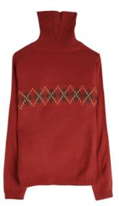 Argyle club turtleneck cut