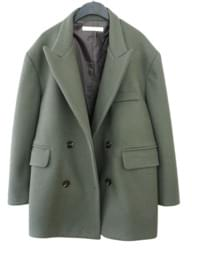 over shoulder half coat (3colors) 大衣外套