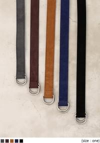 D RING SUEDE BELT