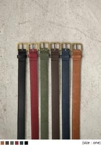 LEATHER COLOR BELT