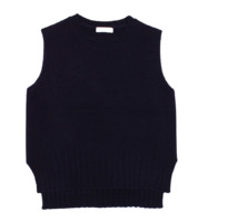Round knit vest (3colors)