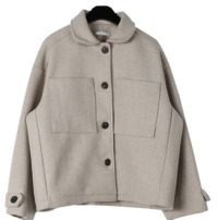 Sturdy wool short jacket