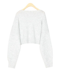over crop wool knit