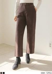 WARM WIDE COTTON PANTS