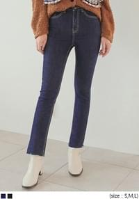 NAPPING SLIM LINE DENIM PANTS