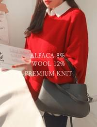 Alpaca wool puff knit