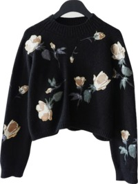 rose patchwork knit