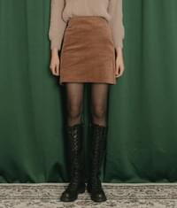 Straight Cut Mini Corduroy Skirt