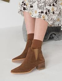 wood ankle boots