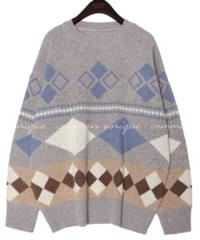 VINTAGE WOOL 55% PATTERN KNIT