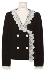GIFT LACE DOUBLE BUTTON CARDIGAN