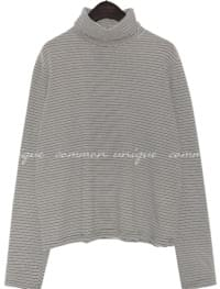 BOAT STRIPE TURTLE NECK T