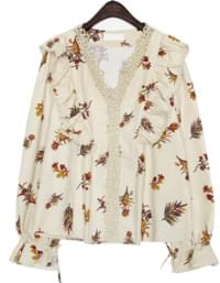 MUSE FLOWER LACE FRILL BLOUSE