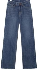 NAPPING WIDE LONG DENIM PANTS