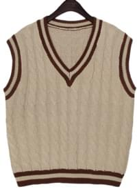 TEENIE TWIST V NECK KNIT VEST