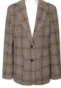 COLOR MIX WOOL CHECK JACKET