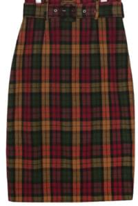 VINTAGE CHECK BELT MIDI SKIRT