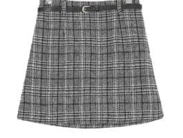 Sofia check skirt pants