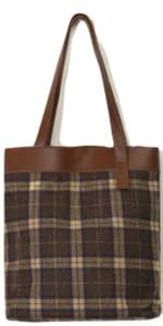 square check tote bag