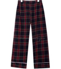 SOFT CHECK PIPING PAJAMA SET