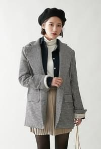 Bonnet Check Daily Wool Jacket