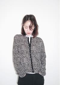 soft leopard slim cardigan