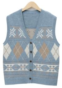 Stove winter knit vest_M (울 50%) (size : free)