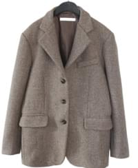 two slit over-fit wool jacket