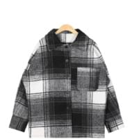 toy check wool jacket