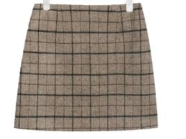 awesome wool mini check skirt