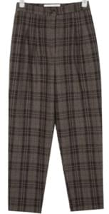 cona check wool slacks
