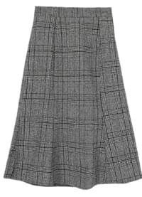 Arrested Checked Ullon Skirt