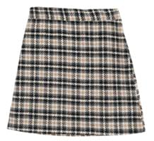 Mate wool check skirt