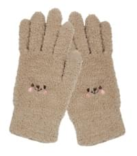 Cute face :) Microfiber gloves
