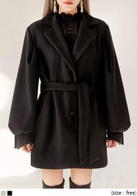 MINUET WOOL 40% PUFF HALF COAT