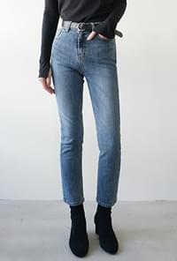 Slim straight napping jean