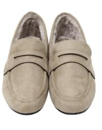 Sweat penny fur loafer_K