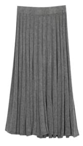 Ethnic knit flare long skirt