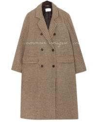 VIEW WOOL 50% HOUND CHECK COAT