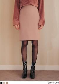 MERRY WOOL SIMPLE MIDI SKIRT