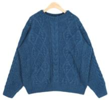 martini cable angora knit