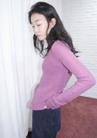 colorful long sleeve knit