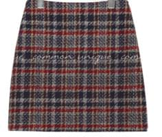 CROWN TWEED H LINE MINI SKIRT