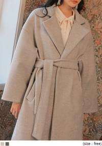 DOY WOOL PINTUCK ROBE LONG COAT