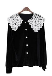 Lace Mary Velvet Blouse