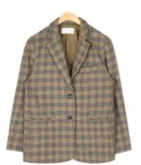 mojito check wool jacket